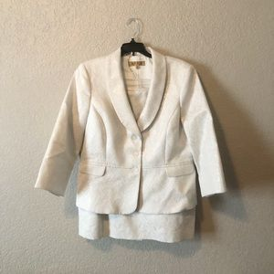 White and Silver Kasper Suit